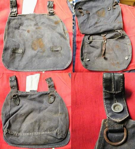 Luftwaffe bread bag, salty condition
