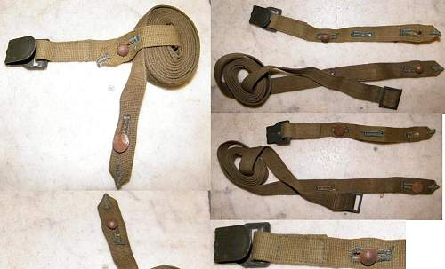 Mint unissued gas mask canister strap