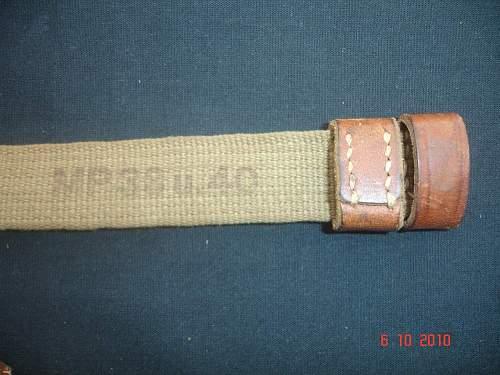 Unknown canvas MP40 strap ?