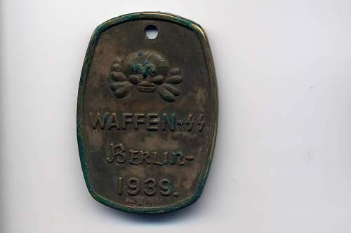 German brass barrack room tag