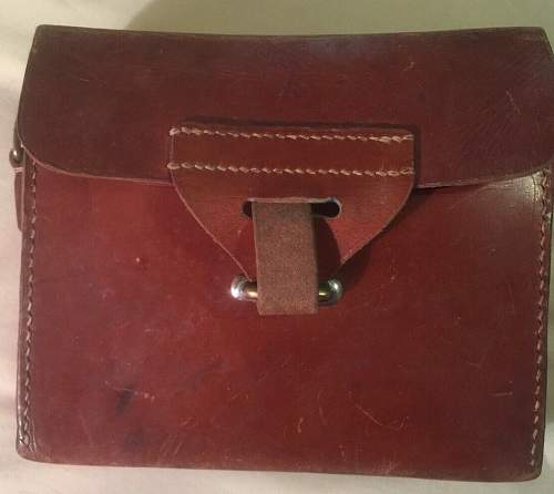 Help! Can anyone identify this military leather pouch