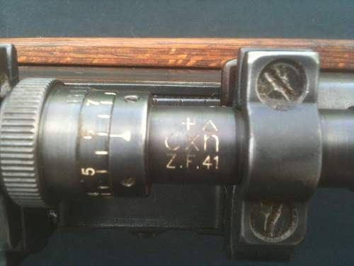 K98 Rifle and ZF41 Scope