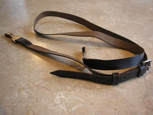 german leather strap with spring clips what was it for please?