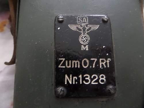 German Navy Range finder lighting unit