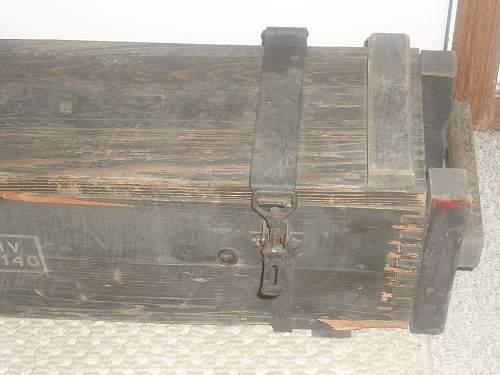 German Artillery Shell ammo box???   Please help.