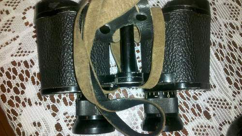 German binoculars with neat twist