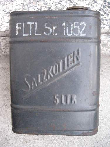 German can 5L:   What  did they use this can for?