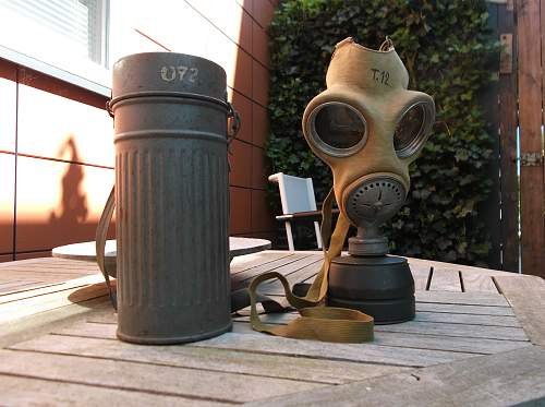 My Early Gas Mask Canister With Beutewaffen Mask