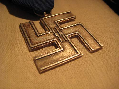 German 12 Jahre Medal SS and Stemple!