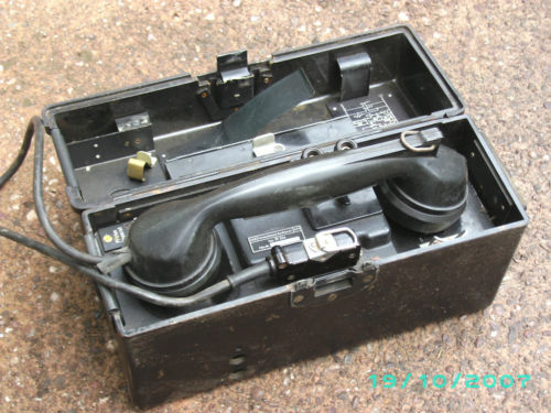 German field telephone. how old is it?