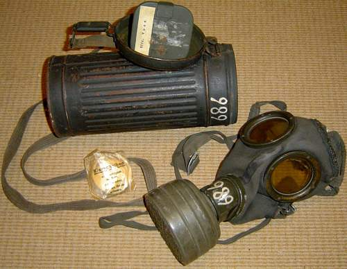 M-38 Gasmask and canister