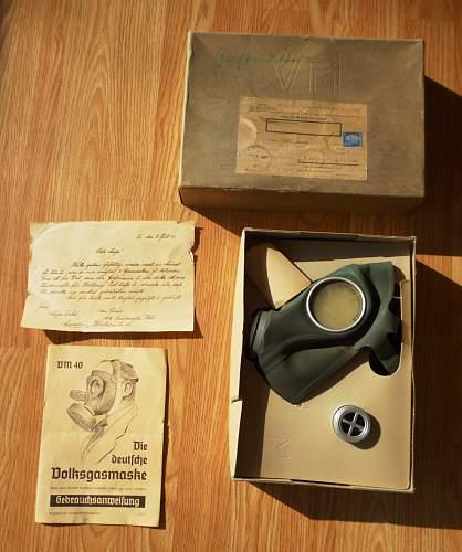 Deutsche Volksgasmaske - Mint,  very beautiful & more than complete