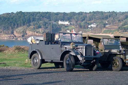 The last German field car left in Jersey from the German occupation.