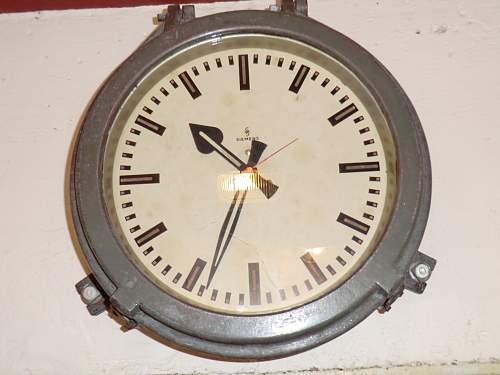 German bunker clock from Jersey, Channel Islands.