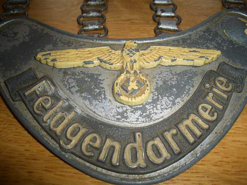 Original Feldgendarmerie gorget from Jersey, Channel Islands