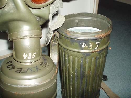 German gasmask with label