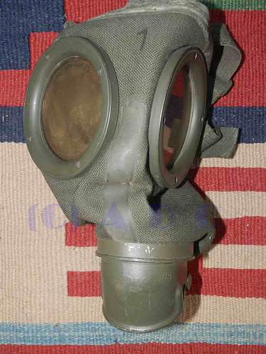 Untouched and matching Gasmaske 30
