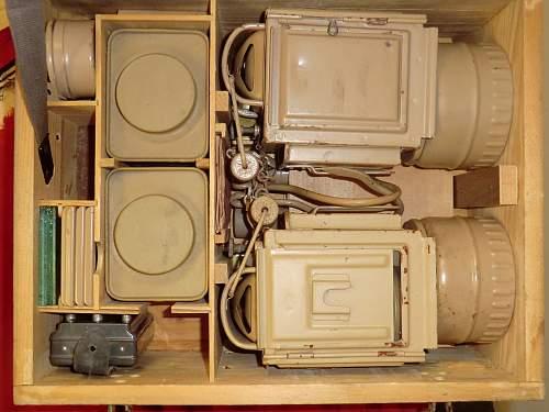 Metal karbid lamp transit and spares box.