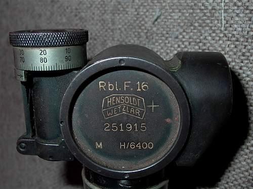 WW2 German Tank  Sight   Periscope - Hensoldt Wetzlar