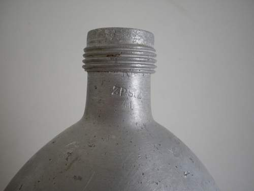 WWII German water bottle  and gun oli bottle?