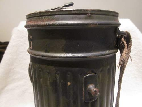 New Gas mask/Canister with name and Feldpost Number