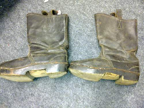 German leather boots