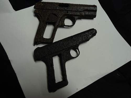 German Pistols Ground Dug Items