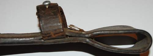 Brown K98 bayonet Frog, or black worn off?