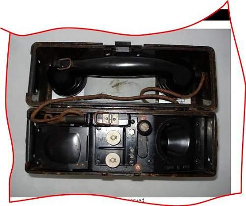 WW2 German Field Phone Model 1933 Feldfernsprecher 33 1940 dated