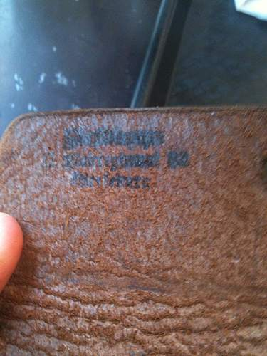 German leather pouch with GI capture markings