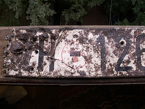 WH License Plate from Stalingrad