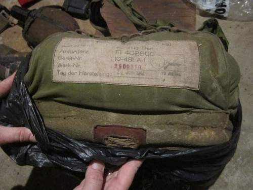 WWII German Parachute Identifcation and other items?