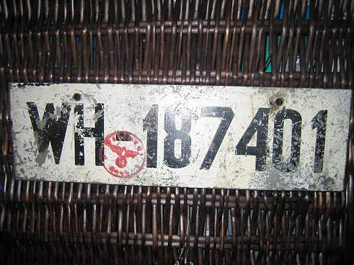 WH vehicle number plate