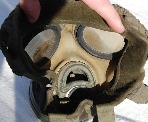 My first gas mask