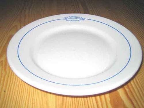 German porcelain plate