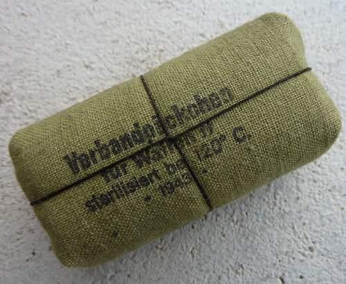 Waffen-SS marked field dressing