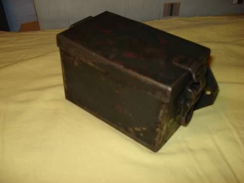 metal ammo box (?)