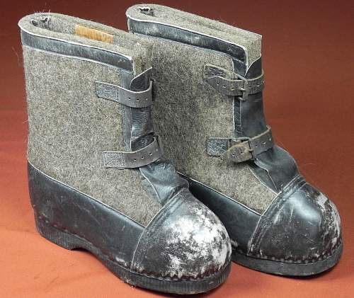 WW2 german snow boots with buckle