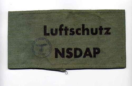 Luftschutz field gear?