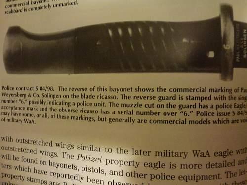 My new Paul Weyerberg & Co Solingen bayonet (repro frog?)