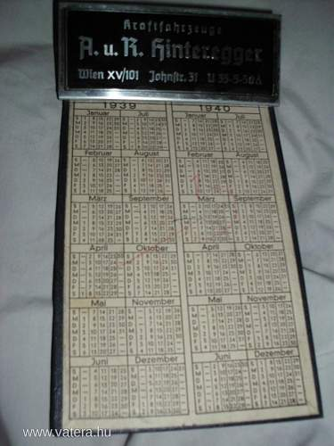 German clipboard from 1939