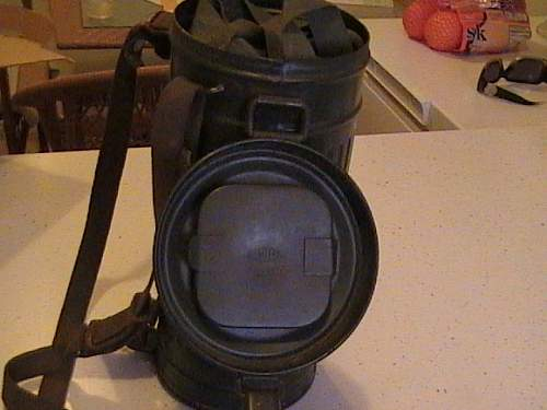 1939 Marked Gas Mask & Canister Named and Minty Condition