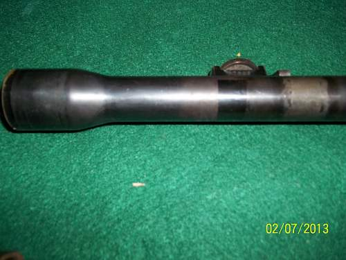 ww2 or pre ww2 rifle scope?