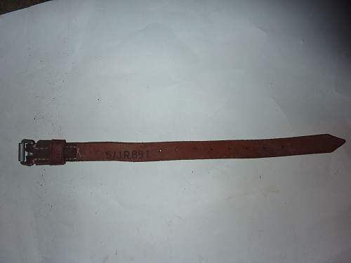 small belt has been taken by the Soviet army from Germany in 1945. Length 30cm width of about 2. Years 1917-1940