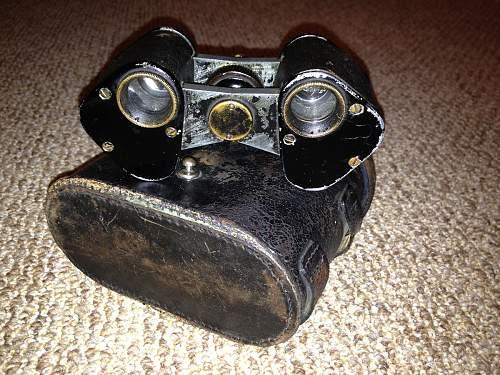 German BUSCH PRISMA-BINOCLE D.R.G.M. Binoculars w/case