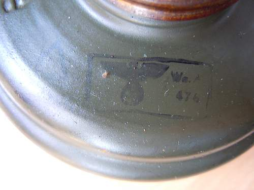 German optical gas mask.