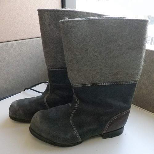 German Felt Boots - resoled WWII or East German ?