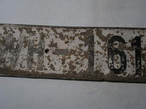 Waffen SS License plate number SS-927801