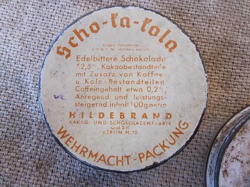 Two Scho-Ka-Kola Tins, 1941