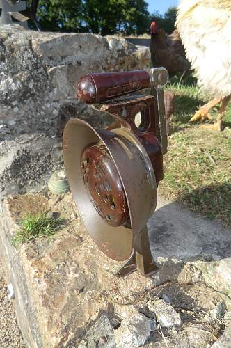 German hand held siren from Jersey, Channel Islands.